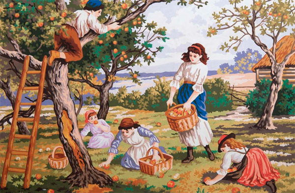 Orchard Days  - Collection d'Art Needlepoint Canvas