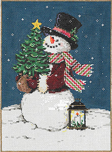 Twinkle Tree Stitch Painted Needlepoint Canvas from Sandra Gilmore