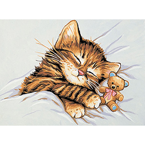 Royal Paris Needlepoint Giordano Kitten Canvas