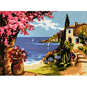 Royal Paris Needlepoint Les Bougainvilliers Canvas