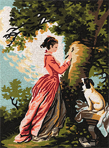 Royal Paris Needlepoint The Letter by Fragonard