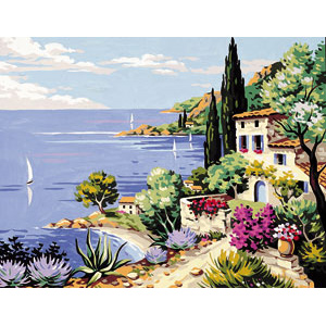 Royal Paris Needlepoint Mediterranean Canvas