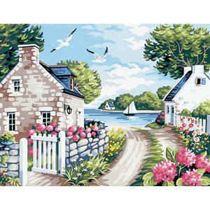 Royal Paris Needlepoint Path to the Beach Canvas