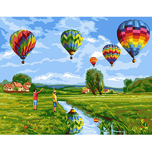 Royal Paris Needlepoint Les Montgolfieres (The Balloons)