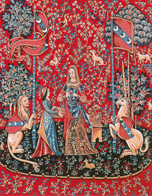 Margot de Paris Tapestry//Needlepoint Canvas Lady and the Unicorn//Touch