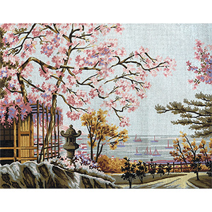 Margot Creations de Paris Needlepoint Landscape by Scali Large Canvas