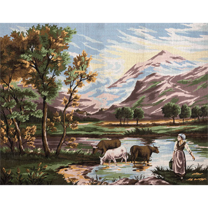 Margot Creations de Paris Needlepoint The Vallee Large Canvas