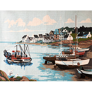 Margot Creations de Paris Needlepoint Littoral (Coast) by Charly Large Canvas