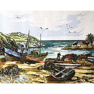 Margot Creations de Paris Needlepoint Seaweed by Dominique Canvas