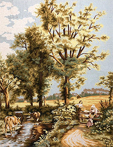 Margot Creations de Paris Needlepoint La Campagne (Countryside) by M.B. Foster Large Canvas