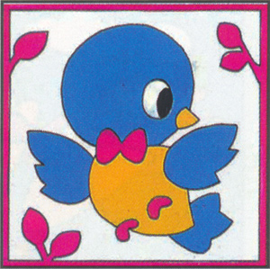 Margot Creations de Paris Needlepoint - Kits for Children - Blue Bird