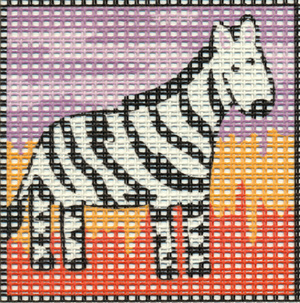 Margot Creations de Paris Needlepoint - Kits for C - Zebra