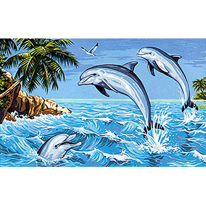 Royal Paris - Large Canvases - Isle of the Dolphins Canvas