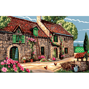 Royal Paris Needlepoint - Center of the Farm
