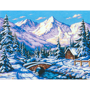 Margot Creations de Paris Needlepoint - Large Canvases - (Le Manteau de Neige) The Mantle of Snow Large Canvas