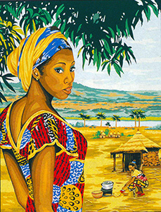 Margot Creations de Paris Needlepoint - Large Canvases - Africa Large Canvas