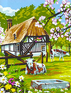 Margot Creations de Paris Needlepoint - Large Canvases - Bocage Normand