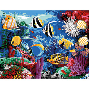 Margot Creations de Paris Needlepoint - Large Canvases -  Aquarium