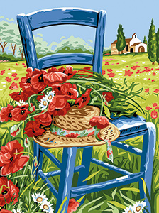 Margot Creations de Paris Needlepoint - Medium Needlepoint Canvases - The Poppies