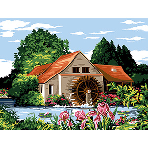 Margot Creations de Paris Needlepoint - Medium Needlepoint Canvases - Moulin