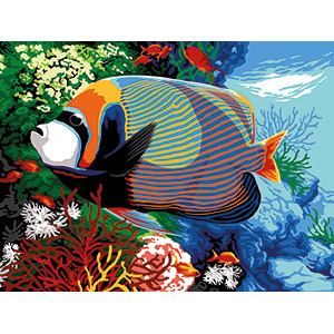 Margot Creations de Paris Needlepoint - Medium Needlepoint Canvases - Angel Fish