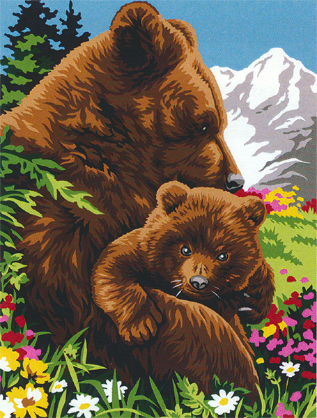 Margot Creations de Paris Needlepoint - Bear and Cub