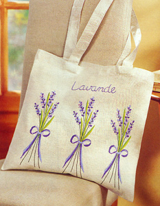 Margot Creations de Paris Embroidery Shopping Bag Kit - Lavender