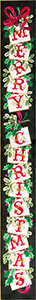 Merry Christmas Bell Pull - Stitch Painted Needlepoint Canvas from Sandra Gilmore