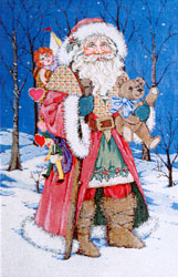 Winter Magic - Stitch Painted Needlepoint Canvas from Sandra Gilmore