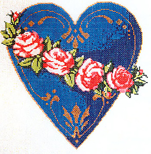 Lovely - Stitch Painted Needlepoint Canvas from Sandra Gilmore
