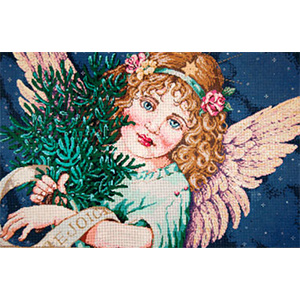 Grace (Angel) - Stitch Painted Needlepoint Canvas from Sandra Gilmore