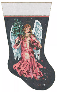 Gift of Love - Stitch Painted Needlepoint Canvas from Sandra Gilmore