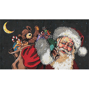 Glad Tidings - Stitch Painted Needlepoint Canvas from Sandra Gilmore