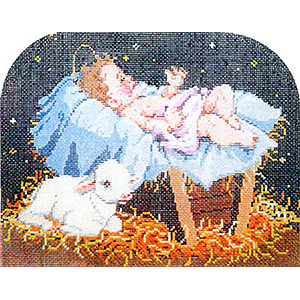 Lamb of God - Stitch Painted Needlepoint Canvas from Sandra Gilmore