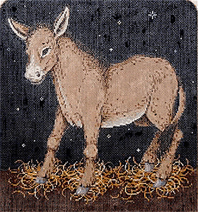 Donkey Hand Painted Needlepoint Canvas
