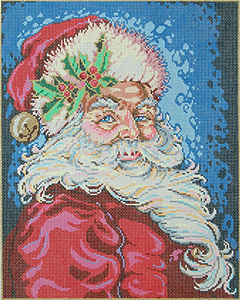 Just Jolly - Stitch Painted Needlepoint Canvas from Sandra Gilmore