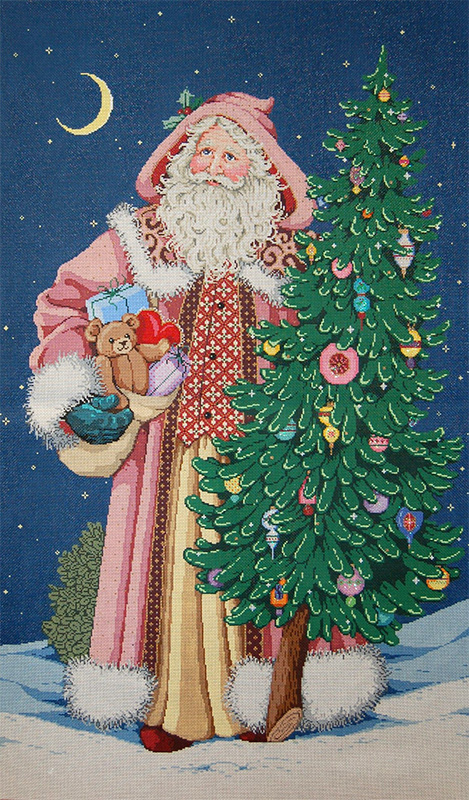 Heirloom Santa Hand Painted Needlepoint Canvas