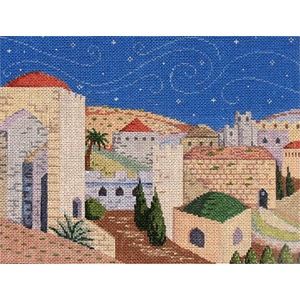Jerusalem Hand Painted Needlepoint Canvas
