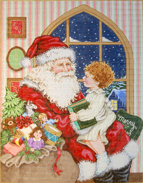 Christmas Tales Hand-painted Painted Needlepoint Canvas