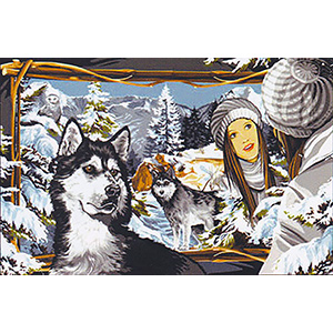 Margot Creations de Paris Needlepoint - Tapestries - Glace Blanche