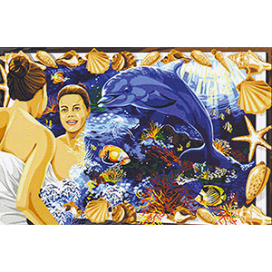 Margot Creations de Paris Needlepoint - Tapestries - De l'autre Cote du Miroir