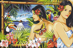 Margot Creations de Paris Needlepoint - Tapestries - Reflet Paradisiaque (Reflection of Paradise)