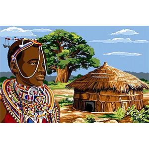 Margot Creations de Paris Needlepoint - Tapestries - Massai (Maasai)