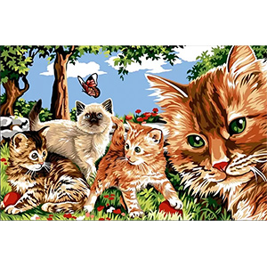 Margot Creations de Paris Needlepoint - Tapestries - Cats in the Garden