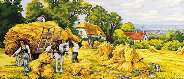Royal Paris Needlepoint - Harvest Time Large Canvas