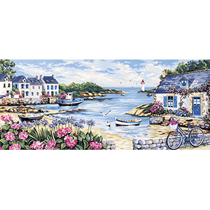 Royal Paris Needlepoint - Bord de Mer Large Canvas