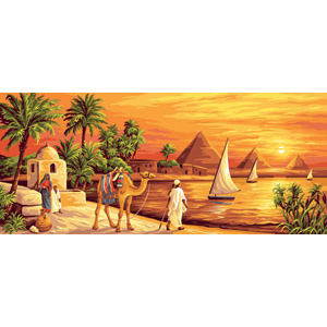 Royal Paris Needlepoint - Along the Nile Canvas