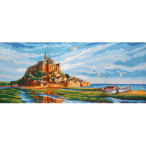 Royal Paris Needlepoint - Mont Saint Michel
