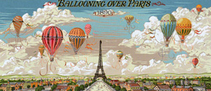 Royal Paris Needlepoint - Vol en Montgolfiere - The Lane Brothers