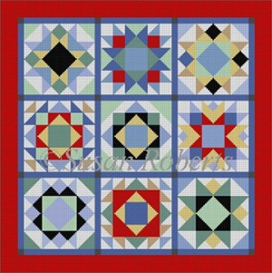 Susan Roberts Needlepoint Designs - Hand-painted Canvas - Patchwork
